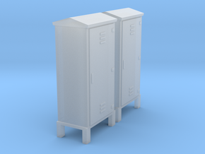 Electrical Cabinet With Legs 1-87 HO Scale in Smooth Fine Detail Plastic