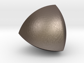 Meissner tetrahedron - Type 2 in Polished Bronzed Silver Steel
