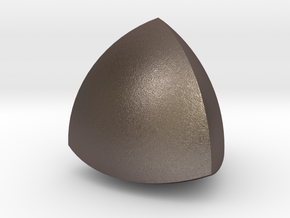Meissner tetrahedron - Type 1 in Polished Bronzed Silver Steel