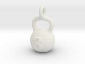 Kettlebell Tiny Tiny Little Earring in White Natural Versatile Plastic