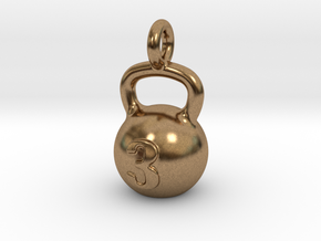 Kettlebell Tiny Tiny Little Earring in Natural Brass
