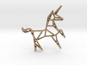 Unicorn Pendant in Polished Gold Steel