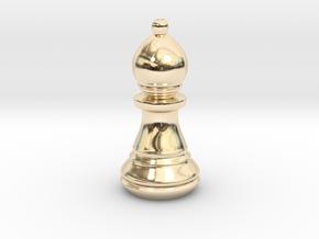 Chess Set Bishop in 14K Yellow Gold