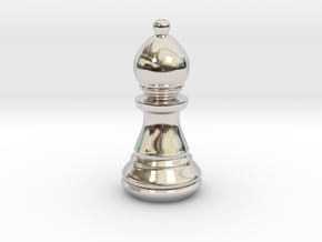 Chess Set Bishop in Platinum