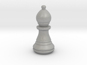Chess Set Bishop in Aluminum
