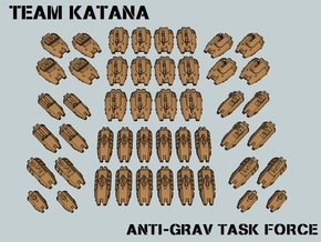 """Team Katana"" 3mm Anti-Grav Task Force (48pcs) in White Natural Versatile Plastic"