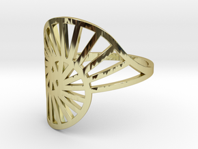 Nautilus Ring Size 10 in 18k Gold Plated Brass
