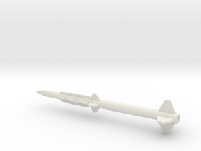 1/72 Scale SM 1 ER Missile in White Natural Versatile Plastic