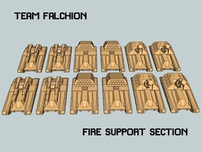 """""""Team Falchion"""" 3mm Tracked Fire Support (12pcs) in White Natural Versatile Plastic"""