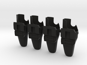 Alien Blaster Holsters (1:6 Scale) 4 Pack in Black Strong & Flexible