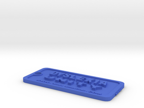 Tag-D-3 in Blue Processed Versatile Plastic