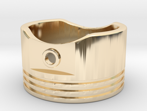 Piston - US Size 12.5 in 14k Gold Plated Brass