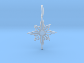 Star No.3 Pendant in Smooth Fine Detail Plastic