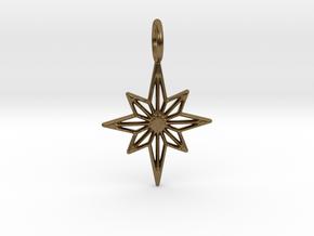 Star No.3 Pendant in Natural Bronze