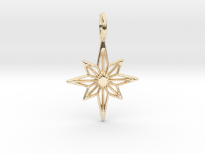 Star No.3 Pendant in 14K Yellow Gold