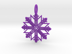 Pendant No.7 in Purple Processed Versatile Plastic