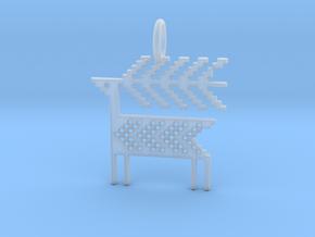 Reindeer Pendant in Smooth Fine Detail Plastic