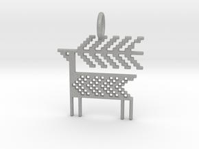 Reindeer Pendant in Aluminum
