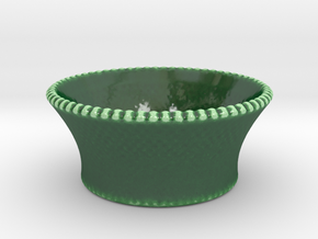 Geometric Bowl in Gloss Oribe Green Porcelain