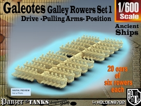 1-600 Galley Rower-Drive-Set 2 in Frosted Extreme Detail
