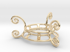 Ornament Egg Stand in 14K Yellow Gold
