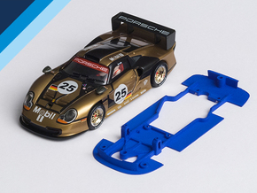 1/32 Fly Porsche GT1-97 Chassis for slot.it pod in Blue Processed Versatile Plastic