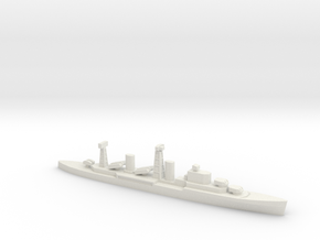 PLAN Chong Qing Missile Cruiser, 1/1800 in White Natural Versatile Plastic