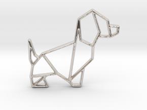 Origami Dog No.2 in Platinum