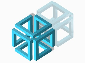 Loopcube Pendant in Blue Processed Versatile Plastic
