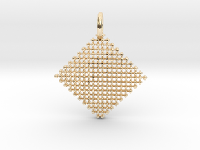 Squares Pendant in 14K Yellow Gold