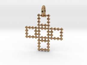 Square Pendant No.3  in Polished Brass