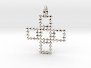 Square Pendant No.3  in Platinum