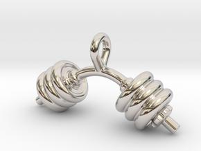 Dumbbell Bent Tiny Little Earring in Platinum