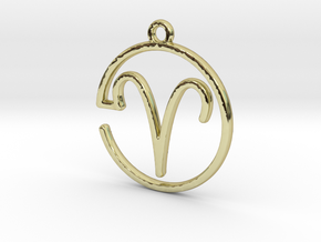 Aries Zodiac Pendant in 18k Gold Plated Brass