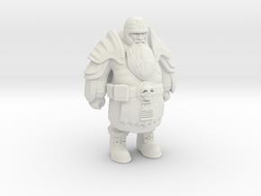 Dwarf-Warrior-13cm  in White Natural Versatile Plastic