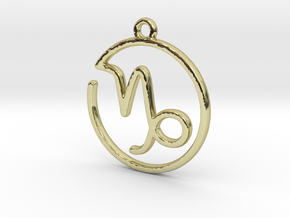 Capricorn Zodiac Pendant in 18k Gold Plated Brass