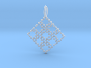 Pendant Square No.4 in Smooth Fine Detail Plastic