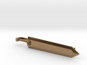 Guts' Dragonslayer Sword Tie Clip in Natural Brass