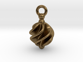 Earring Twisted in Natural Bronze