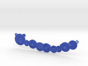 Don't Blink - Embossed Necklace pendant in Blue Processed Versatile Plastic