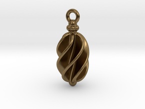 Earring Long Twisted in Natural Bronze