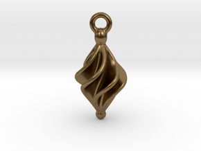 Rhomboidal Earring Twisted in Natural Bronze