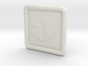 Standard Sleeve Pin in White Natural Versatile Plastic