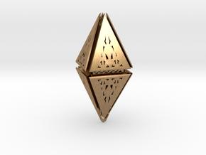 Diamond  in Natural Brass