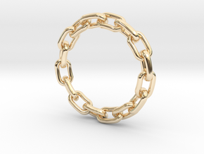 Chain Ring 25mm in 14K Yellow Gold