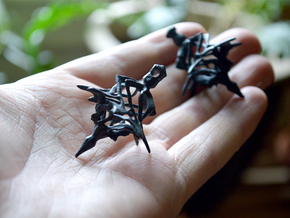 Surreal Lantern Earrings - Standard Pair in Black Strong & Flexible