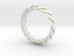 Leaf Bracelet in White Natural Versatile Plastic