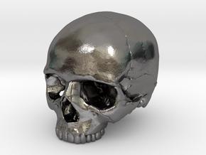 Skull    30mm width in Polished Nickel Steel