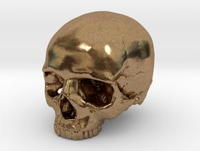 Skull    30mm width in Natural Brass
