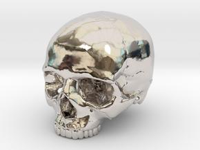 Skull    30mm width in Platinum